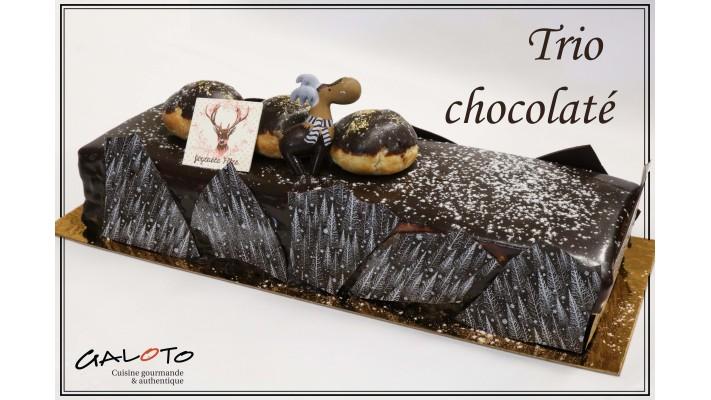 Grande bûche Trio chocolaté